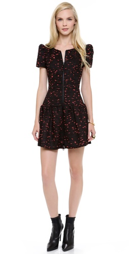 Milly Drop Waist Pouf Dress
