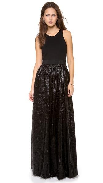 Milly Shag Taffeta Gown