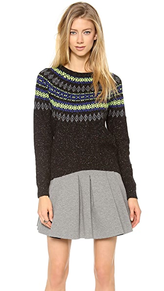 Milly Neon Fair Isle Sweater