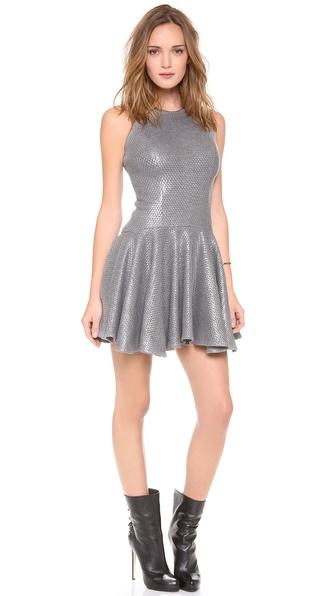 Milly Laminated Flare Dress