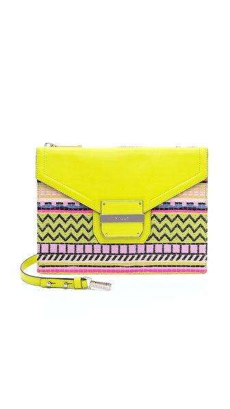 Milly Rich Jacquard Shoulder Bag