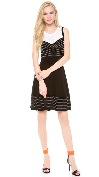 Milly Trompe l'Oeil Corsetry Dress