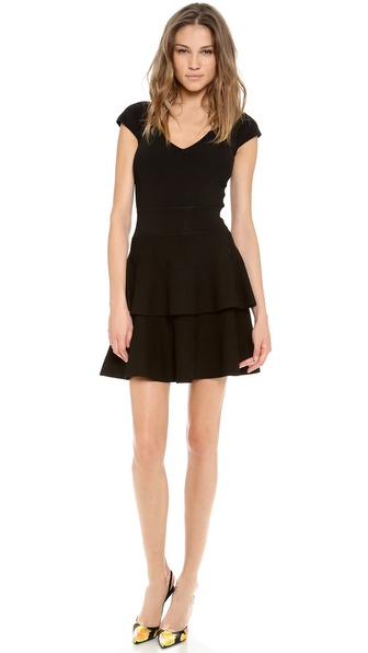 Milly Tiered Flare Dress