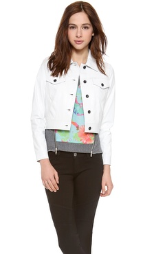Milly Flap Pocket Leather Jacket