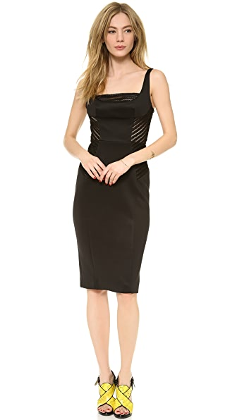 Milly Mesh Detail Sheath Dress