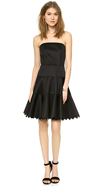 Milly Lasercut Strapless Dress