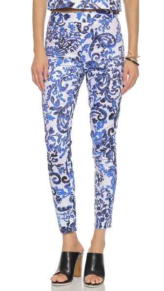 Milly Printed Slim Pants