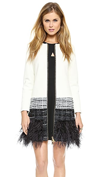 Milly Feather Trim Jacket