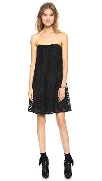 Milly Lace Trapeze Dress