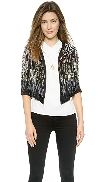 Milly Beaded Bolero Jacket - Black