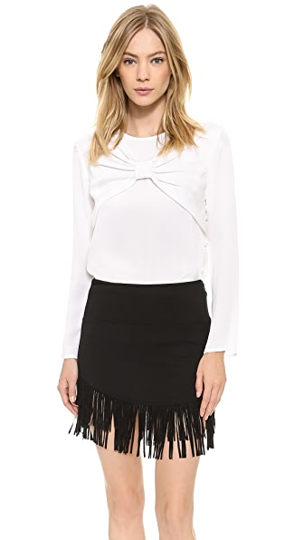 Milly Bow Sleeve Top - White