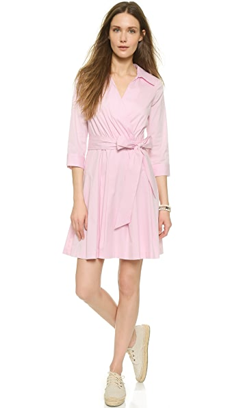 Milly Pleated Wrap Shirtdress - Blush