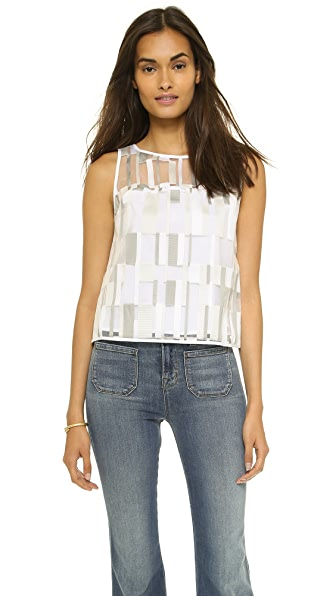 Milly Cubist Shell Top - Stone