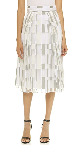 Milly Cubist Lana Skirt - Stone