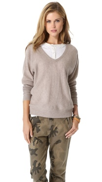 Minnie Rose Dolman Cashmere Sweater
