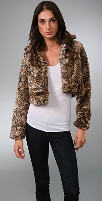 MINKPINK Faux Fur Jacket