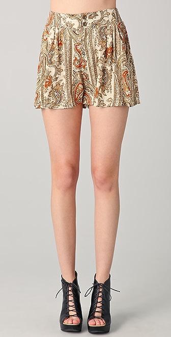 MINKPINK Prince of Persia Paisley Shorts
