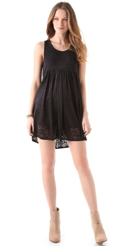 MINKPINK Petal Punch Faux Suede Dress