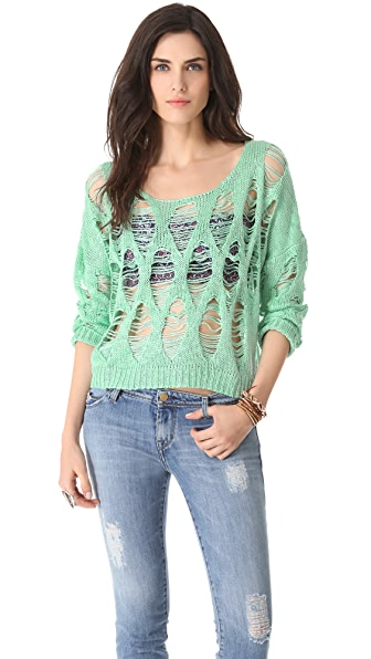 MINKPINK Hole In One Sweater