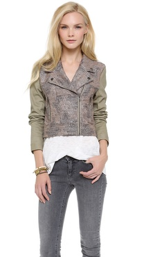 MINKPINK Magic Carpet Biker Jacket
