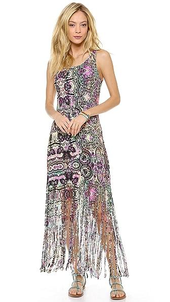 MINKPINK Ashram Fringed Maxi Cover Up Dress