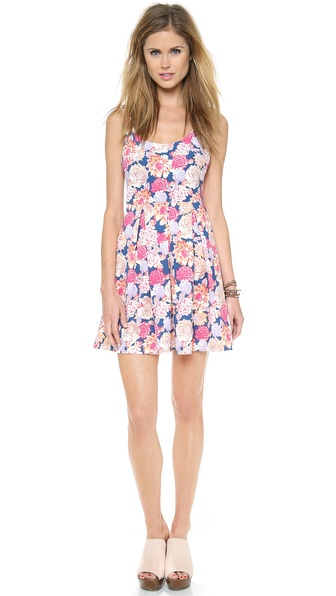 MINKPINK Floral Frenzy Box Pleat Dress