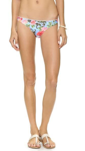 Shop MINKPINK online and buy Minkpink Baby Blues Bikini Bottom Multi - A floral print and delicate picot trim detail low rise MINKPINK bikini bottoms. Lined. 83% polyester/17% elastane. Hand wash. Imported, China. Size & Fit. Available sizes: M,S,XS