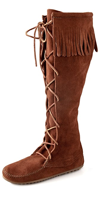Minnetonka Front Lace Knee High Boots