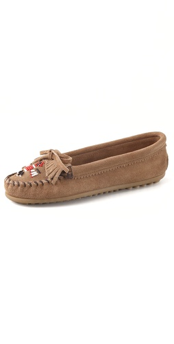 Shop Minnetonka Thunderbird II Moccasin Flats and Minnetonka online - Footwear,Womens,Footwear,Flats, online Store