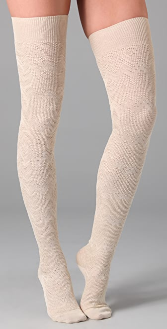 Missoni Zigzag Above the Knee Socks