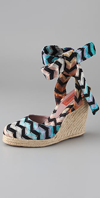 Missoni Zigzag Wedge Espadrilles
