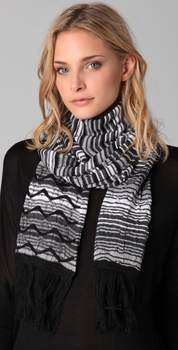 Missoni Black Wave Scarf