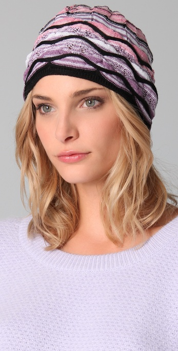Missoni Black Wave Beanie