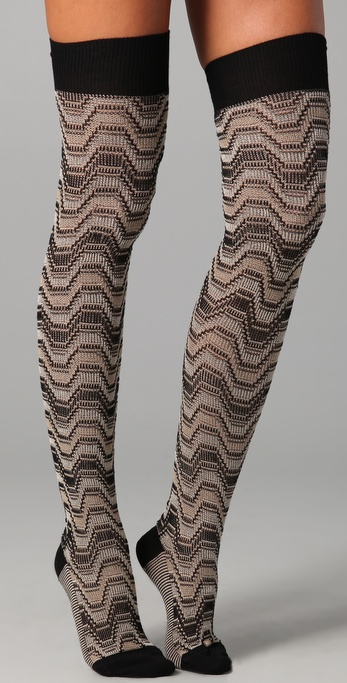Missoni Above the Knee Socks