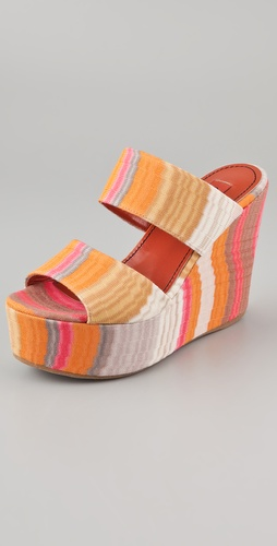 Missoni 2 Band Platform Slides