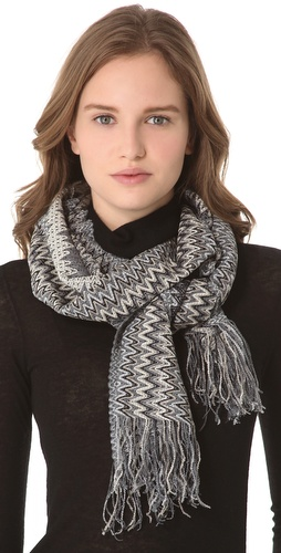 Shop Missoni Chenille Zigzag Scarf and Missoni online - Accessories,Womens,Cold_Weather,Scarves, online Store