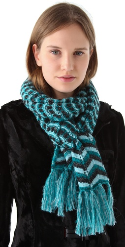 Shop Missoni Knit Scarf and Missoni online - Accessories,Womens,Cold_Weather,Scarves, online Store