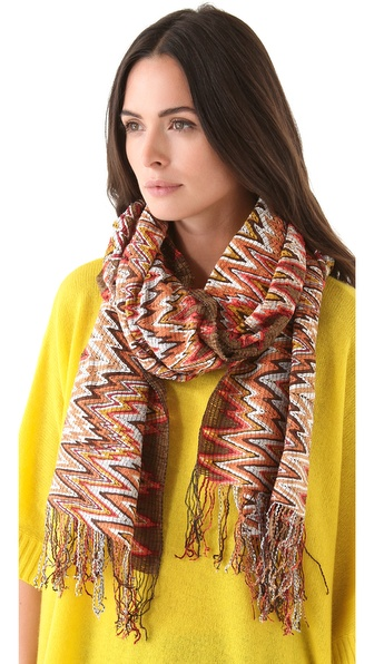 Missoni Chenille Zigzag Scarf