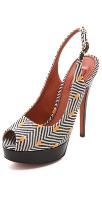 Missoni Slingback Peep Toe Sandals