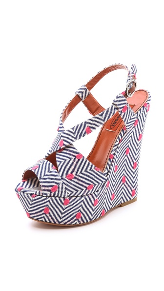 Missoni Slingback Wedge Sandals