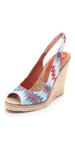 Missoni Wedge Slingback Heels at Shopbop.com