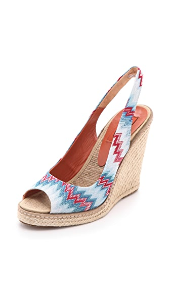 Missoni Wedge Slingback Heels