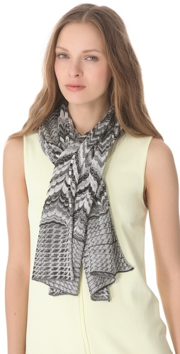 Missoni Mixed Print Lurex Scarf at Shopbop.com