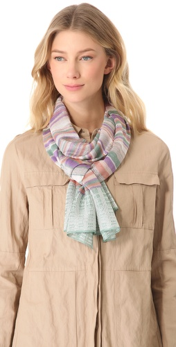 Missoni Geometric Print Lurex Scarf at Shopbop.com