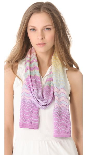 Missoni Scallop Print Scarf