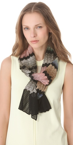 Missoni Wave Print Lurex Scarf at Shopbop.com