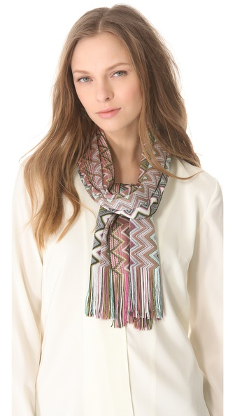 Missoni Zigzag Print Scarf
