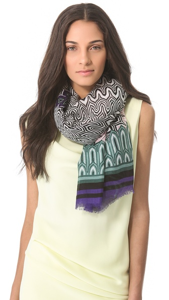 Missoni Large Petal Print Shawl