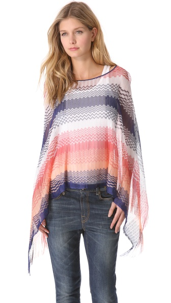 Missoni Zigzag Poncho from shopbop.com