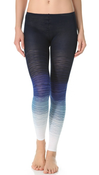 Missoni Mini Wave Print Footless Tights